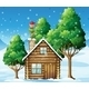 Wooden House with Elf On the Roof - GraphicRiver Item for Sale
