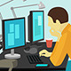 People Working at the Desk. - GraphicRiver Item for Sale