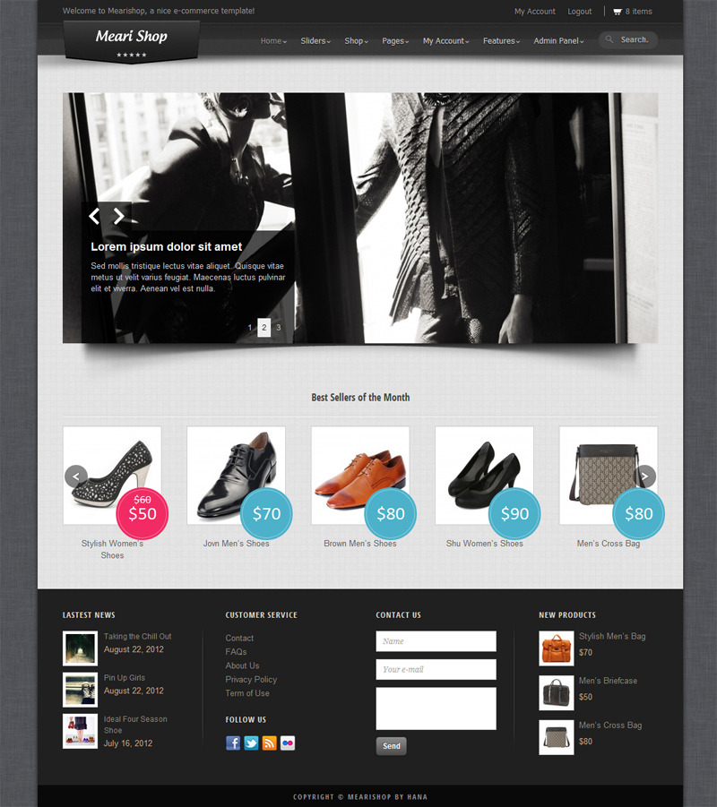 Mearishop - a Clean Responsive E-commerce Theme