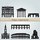 Nimes Landmarks and Monuments - GraphicRiver Item for Sale