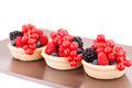 Fresh ripe berries in tartlets - PhotoDune Item for Sale