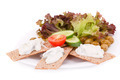 Cracker with fresh vegetables and cream - PhotoDune Item for Sale