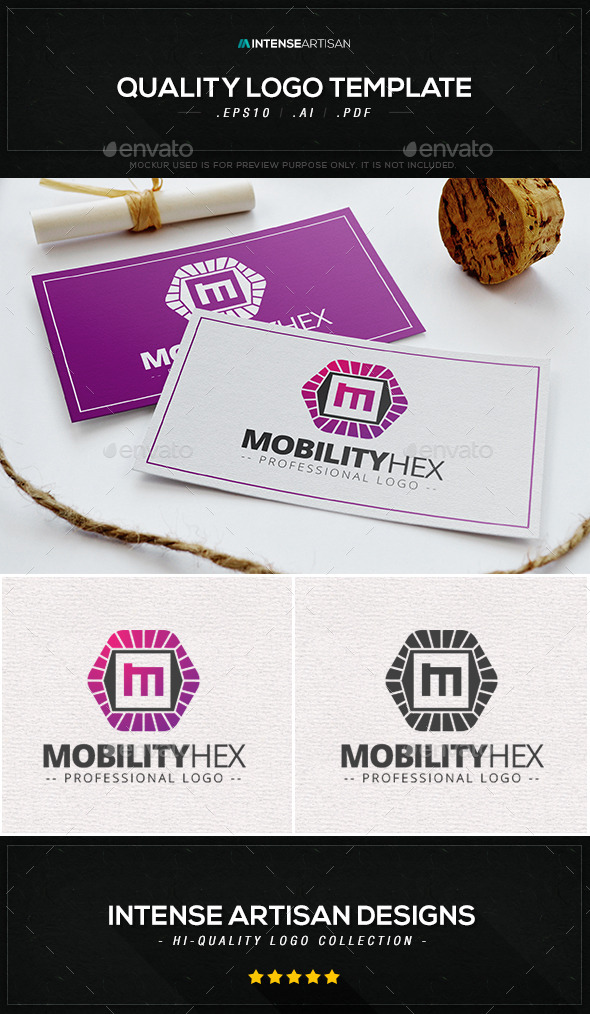 GraphicRiver Mobility Hex Logo Template 10065188