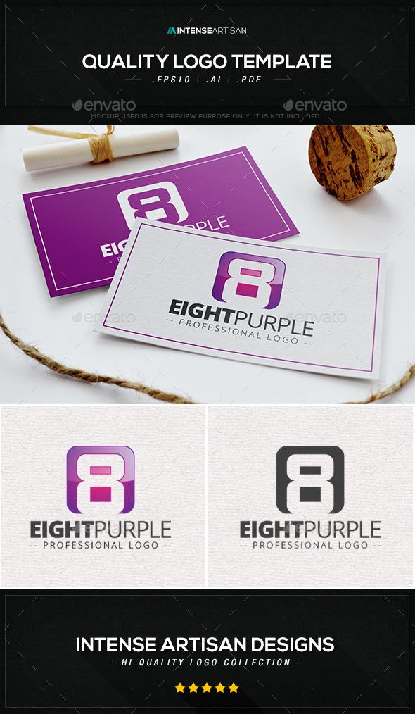 GraphicRiver Eight Purple Logo Template 10065189