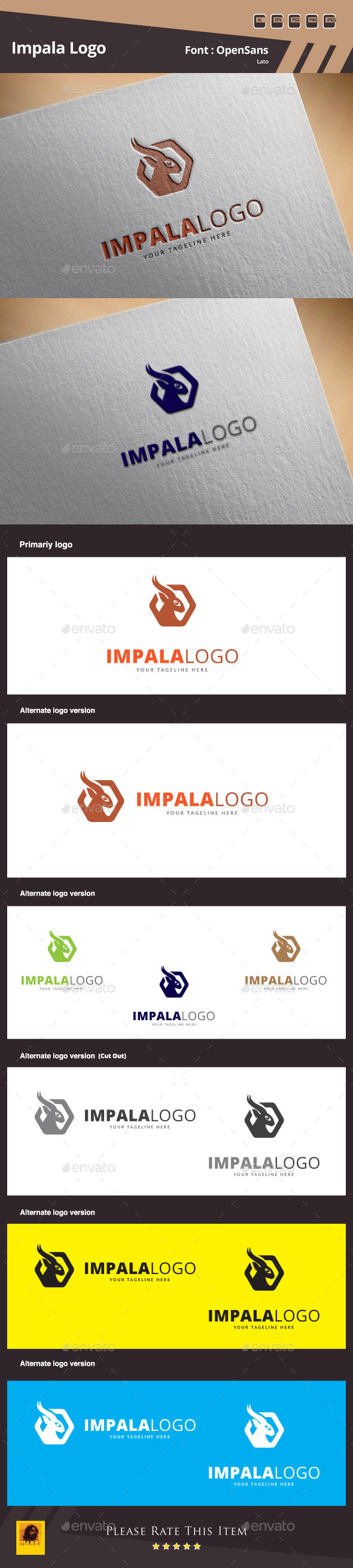 GraphicRiver Impala Logo Template 10065241