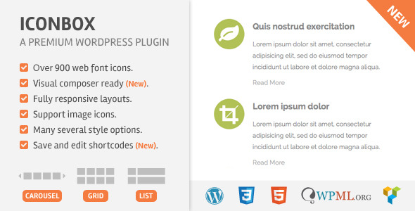 IconBox Wordpress Plugin - CodeCanyon Item for Sale