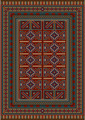 Vintage Carpet Decorated with Geometric Designs - PhotoDune Item for Sale