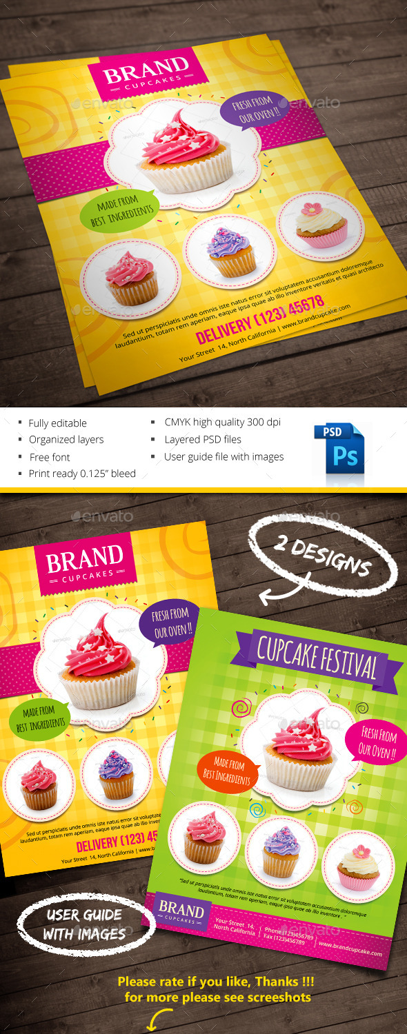 GraphicRiver Cupcake 10065656