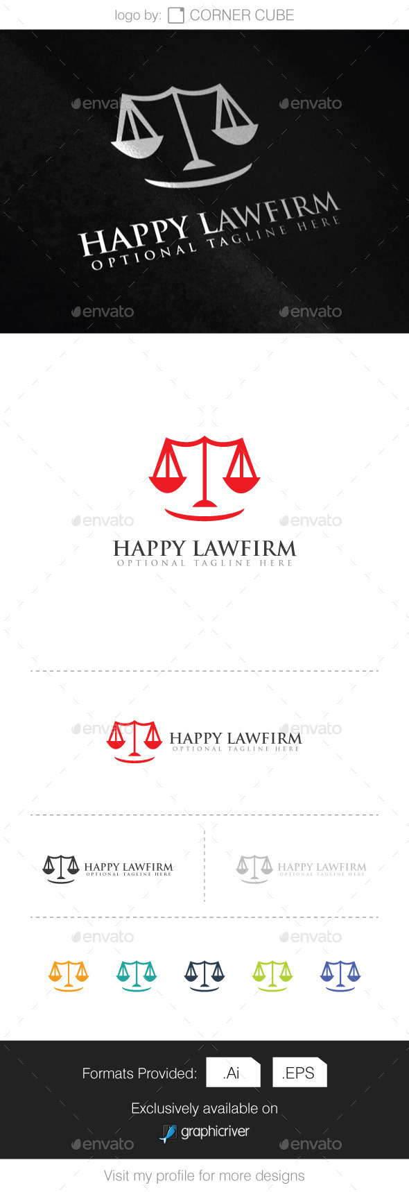 GraphicRiver Happy Lawfirm Logo 10065876