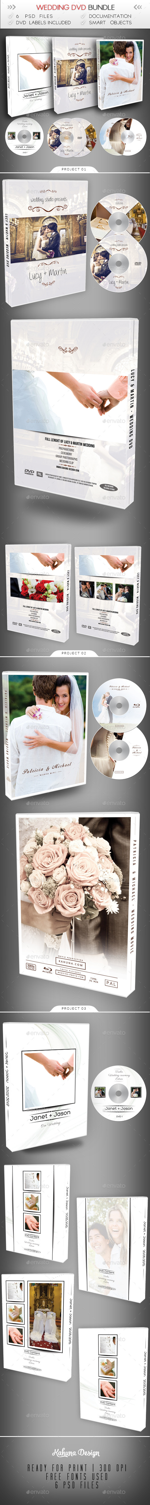 GraphicRiver Wedding DVD Blu-Ray Bundle 10065922