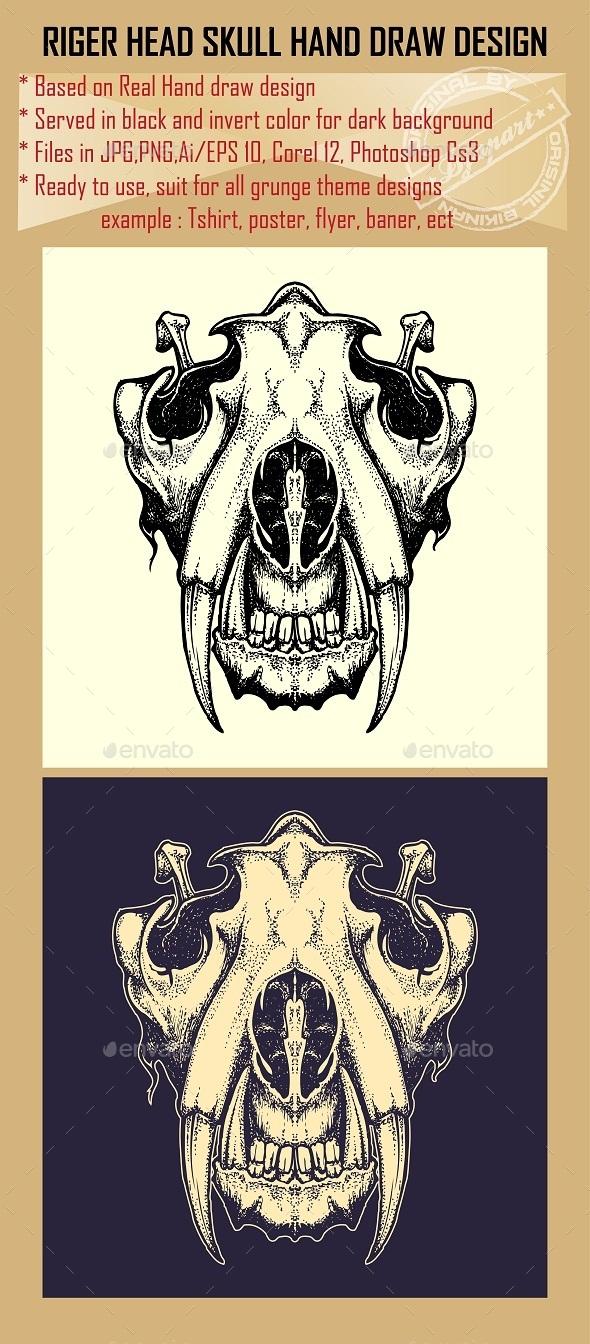 GraphicRiver Tiger Skull 10065960