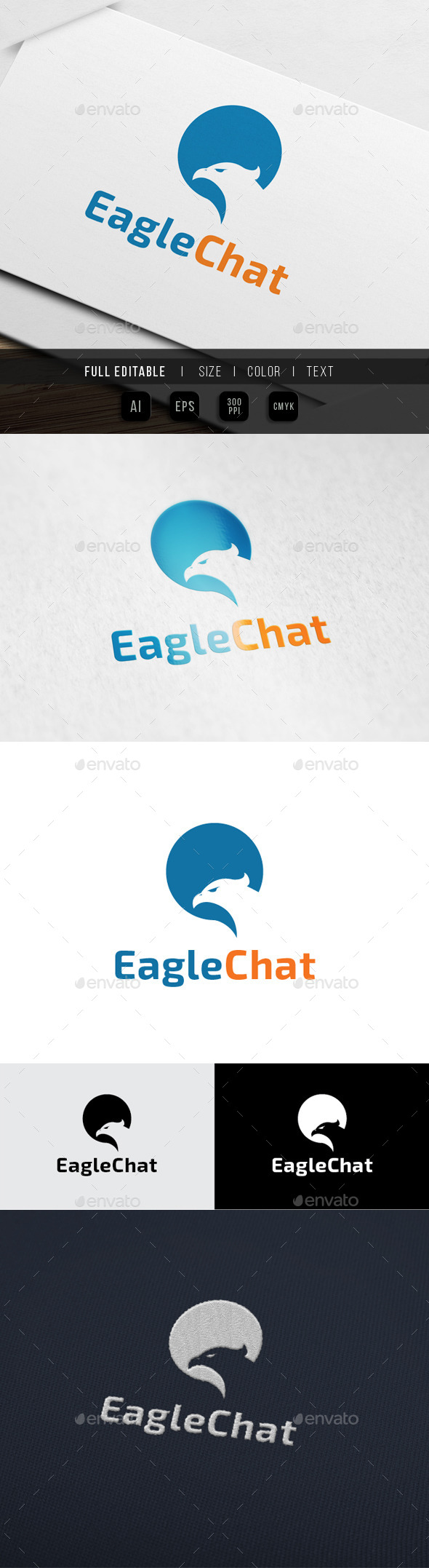 GraphicRiver Eagle Chat Express Logo 10066077