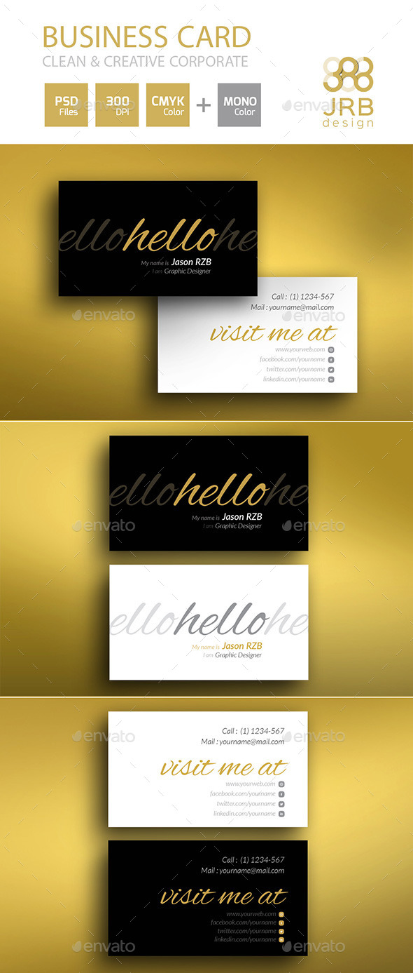 GraphicRiver 2 Style Clean Business Card 10066190
