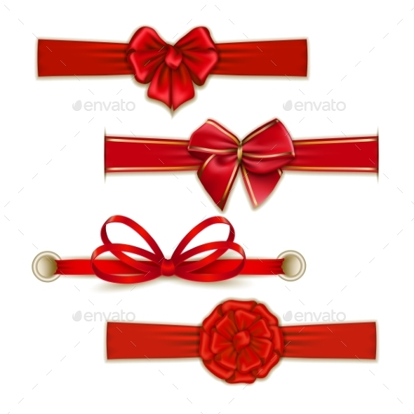 GraphicRiver Set of Silk Colored Bows 10066239