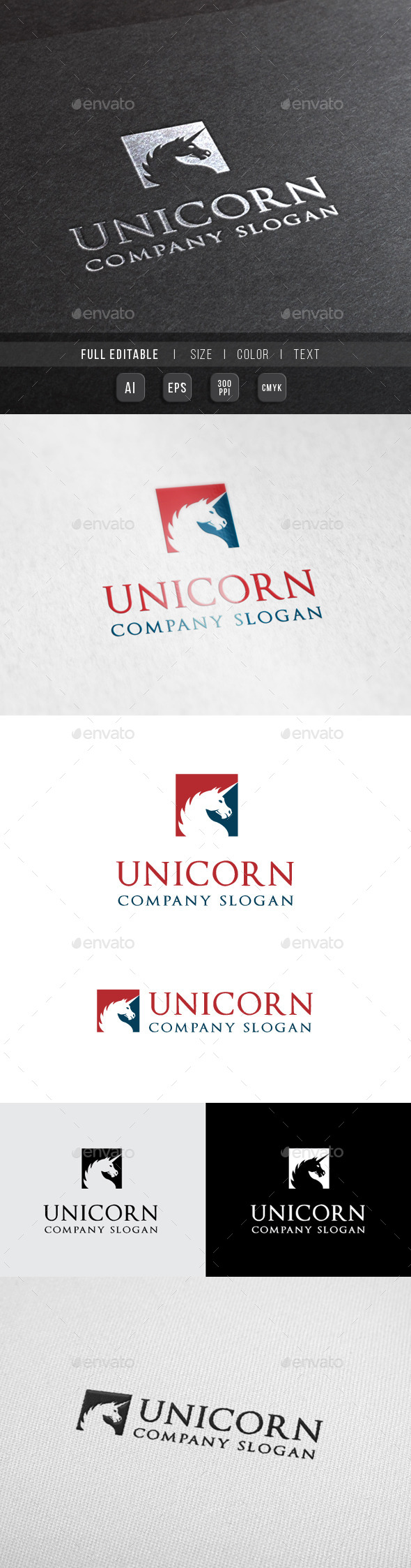 GraphicRiver Unicorn Finance Consulting Logo 10066385