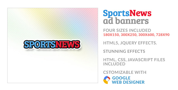 CodeCanyon Sports News GWD HTML5 Ad Banner 10066531
