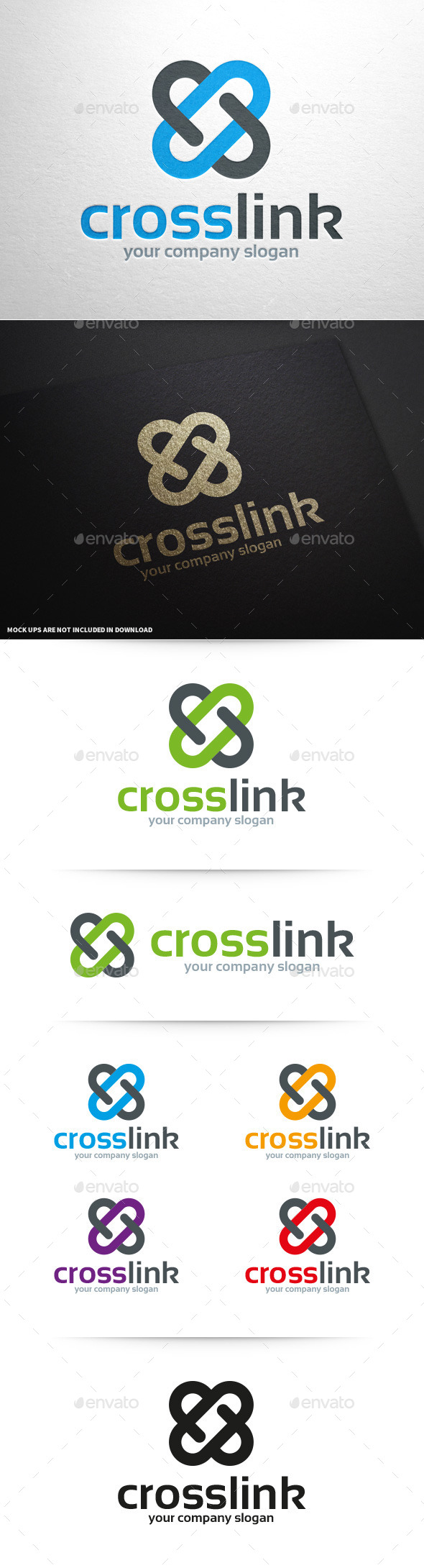 GraphicRiver Cross Link Logo Template 10066742