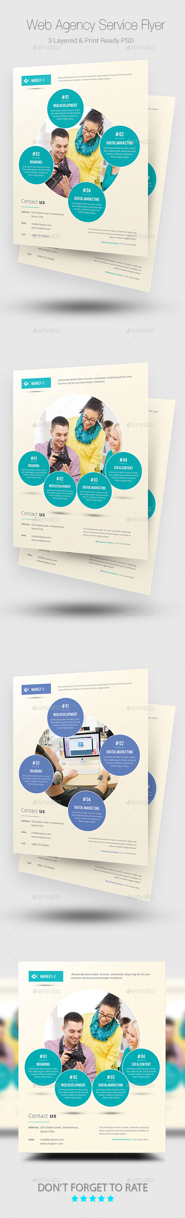 GraphicRiver Web Agency Service Flyer Templates 10066846