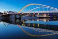 View of Schuman bridge by night - PhotoDune Item for Sale