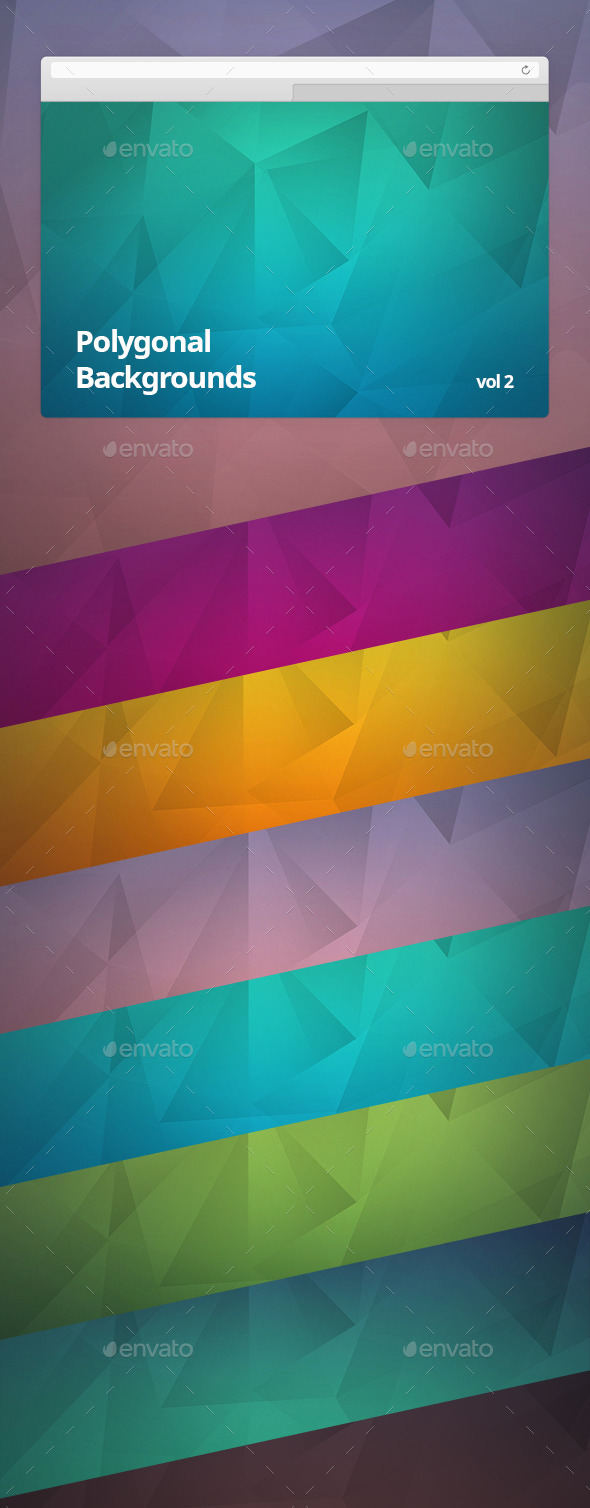 Polygonal Backgrounds Vol 2