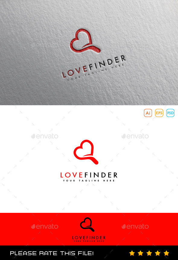GraphicRiver Love Finder Logo 10067118