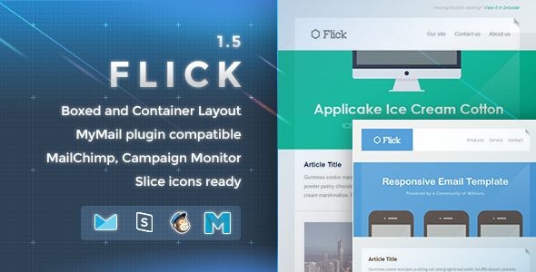 Flick - Responsive E-mail Template - Newsletters Email Templates
