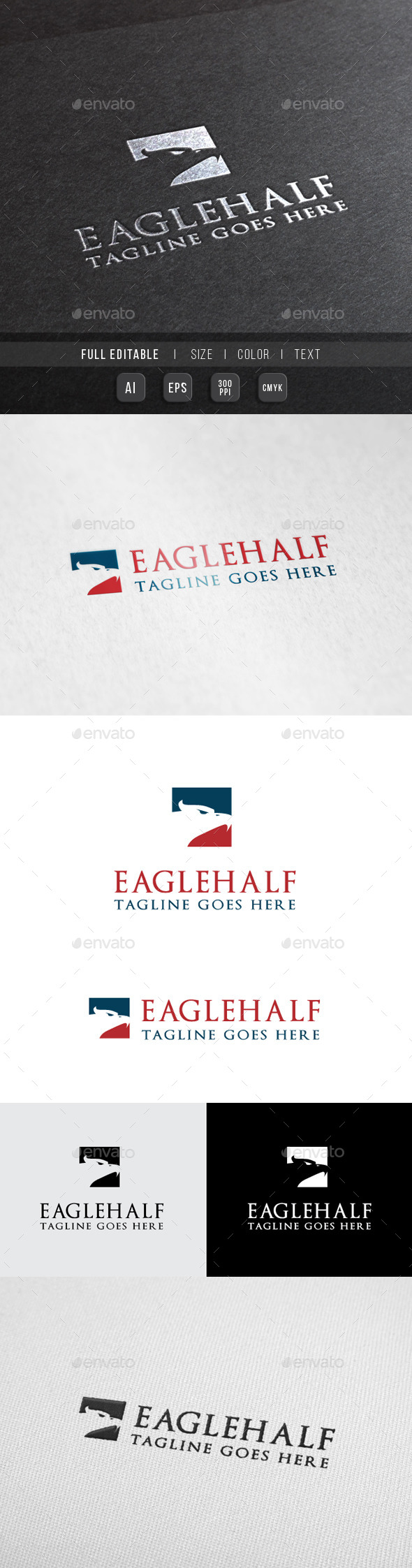 GraphicRiver Eagle Finance Tour Travel Logo 10067159