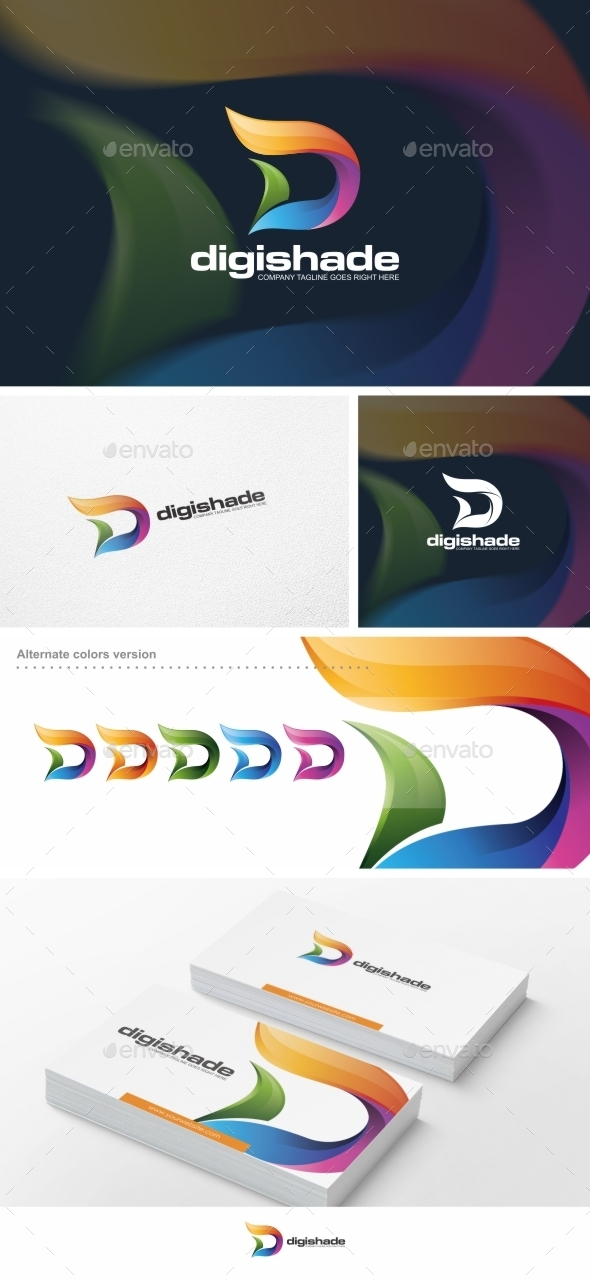 GraphicRiver Abstract D Letter Logo Template 10067183