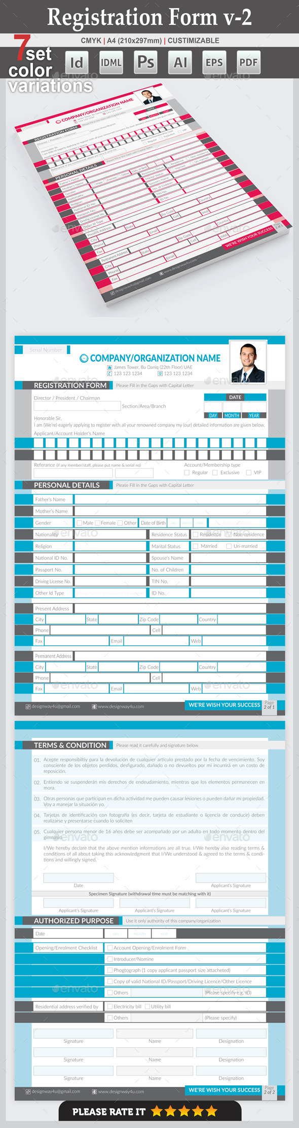 GraphicRiver Registration Form v-2 10067227