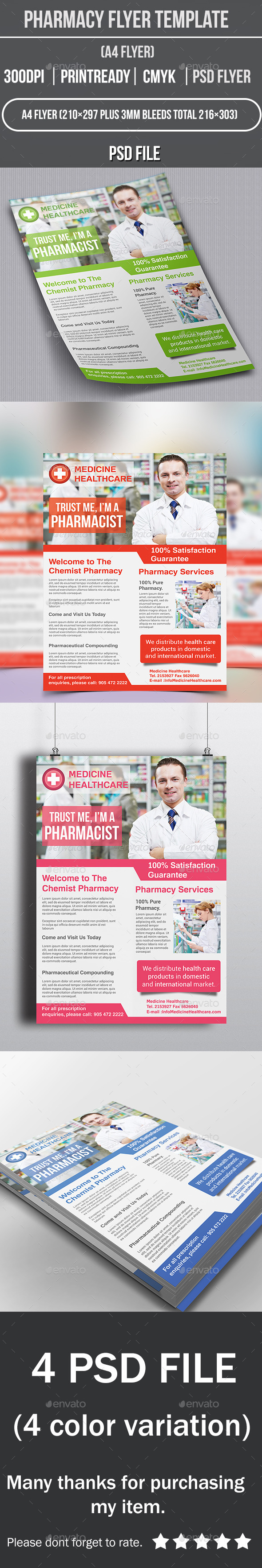 GraphicRiver Pharmacy Flyer Template 10067237