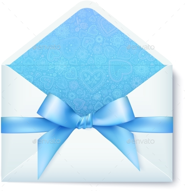 GraphicRiver Paper Envelope with Blue Bow 10067262