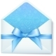 Paper Envelope with Blue Bow - GraphicRiver Item for Sale
