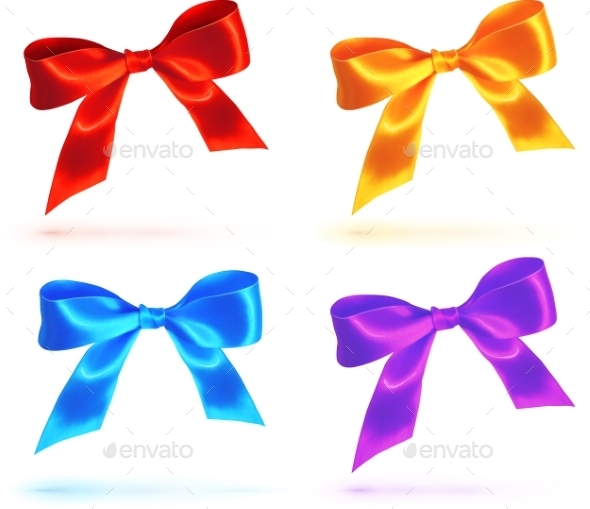 Bright Colorful Bows Set