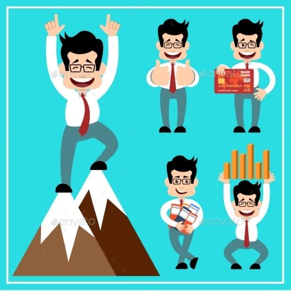 GraphicRiver Cartoon Businessman 10067348