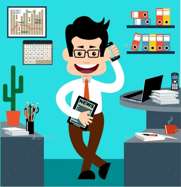 GraphicRiver Cartoon Businessman 10067355