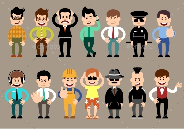 GraphicRiver Set of Different Men Characters 10067361