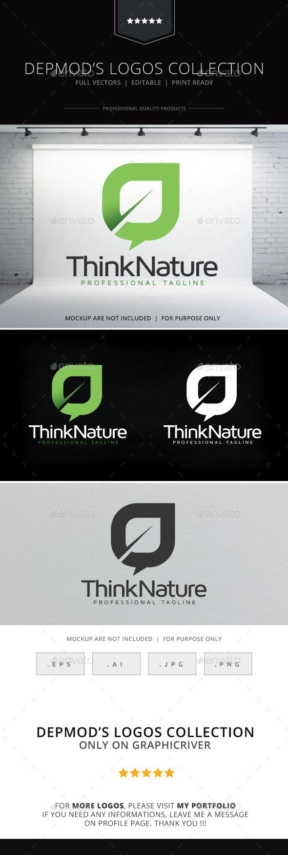 GraphicRiver Think Nature Logo 10067420
