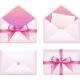 Pink Envelope with Ribbon Set - GraphicRiver Item for Sale