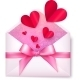 Pink Paper Envelope with Red Hearts and Bow - GraphicRiver Item for Sale