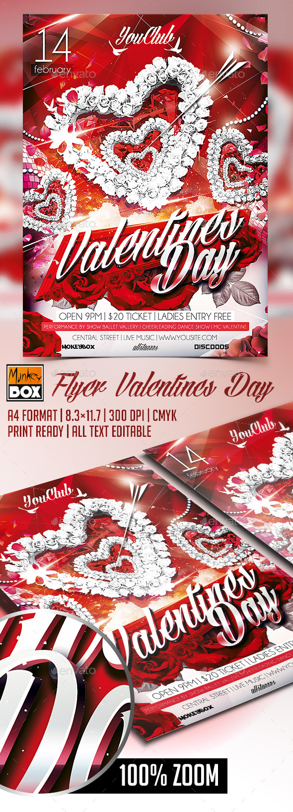 GraphicRiver Flyer Valentines Day 10067438
