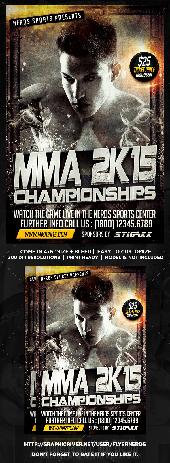 GraphicRiver MMA 2K15 Championships Sports Flyer 10050743