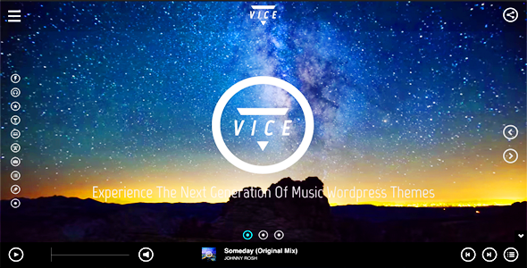 Vice Music Dj and Music Band Wordpress Theme