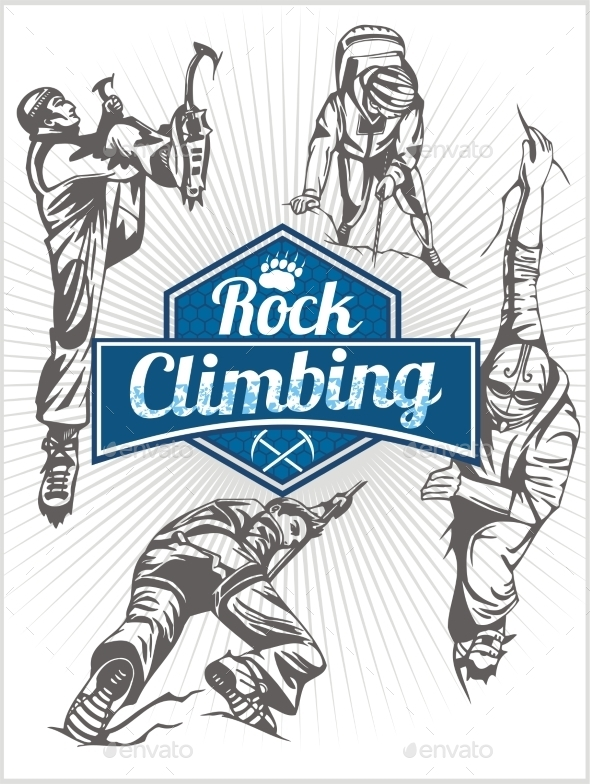 GraphicRiver Rock Climbing Set 10067885