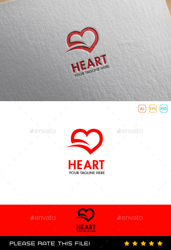 GraphicRiver Hearts Logo 10067887