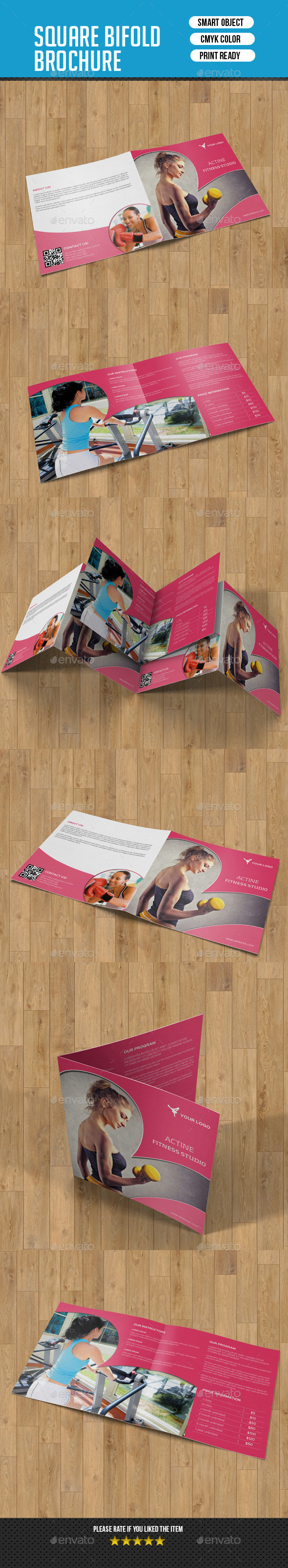 GraphicRiver Square Bifold for Fitness Center-V10 10067925