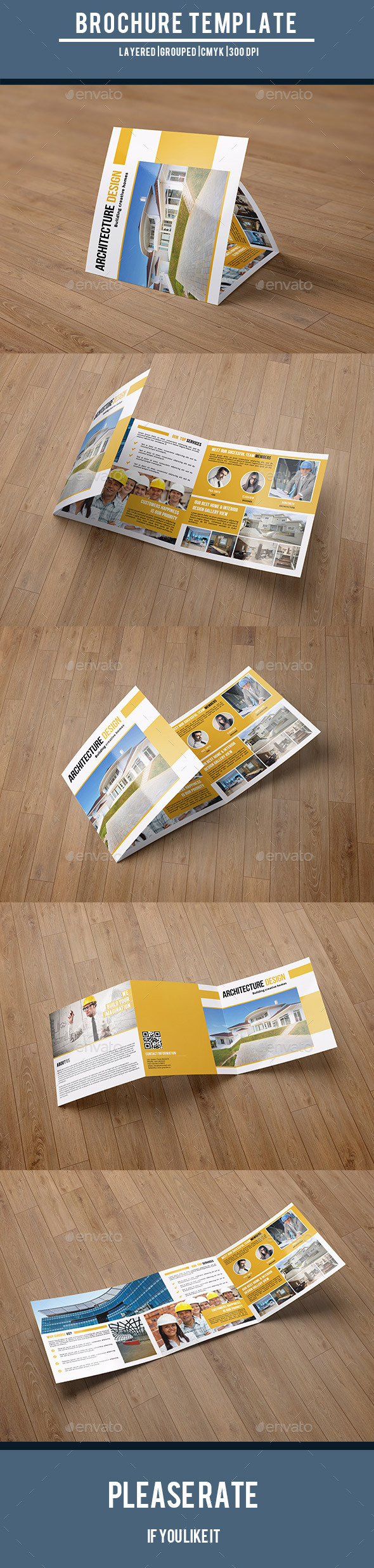 GraphicRiver Square Trifold for Architecture Company-V58 10067962