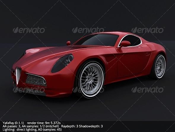 Alfa Romeo 8c competizione - 3DOcean Item for Sale