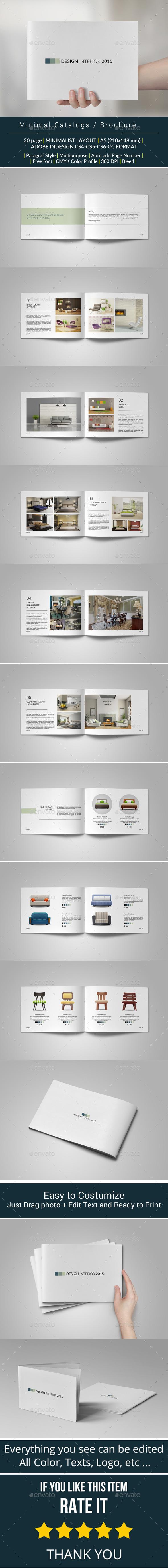 Minimal Catalogs Brochure Portfolio