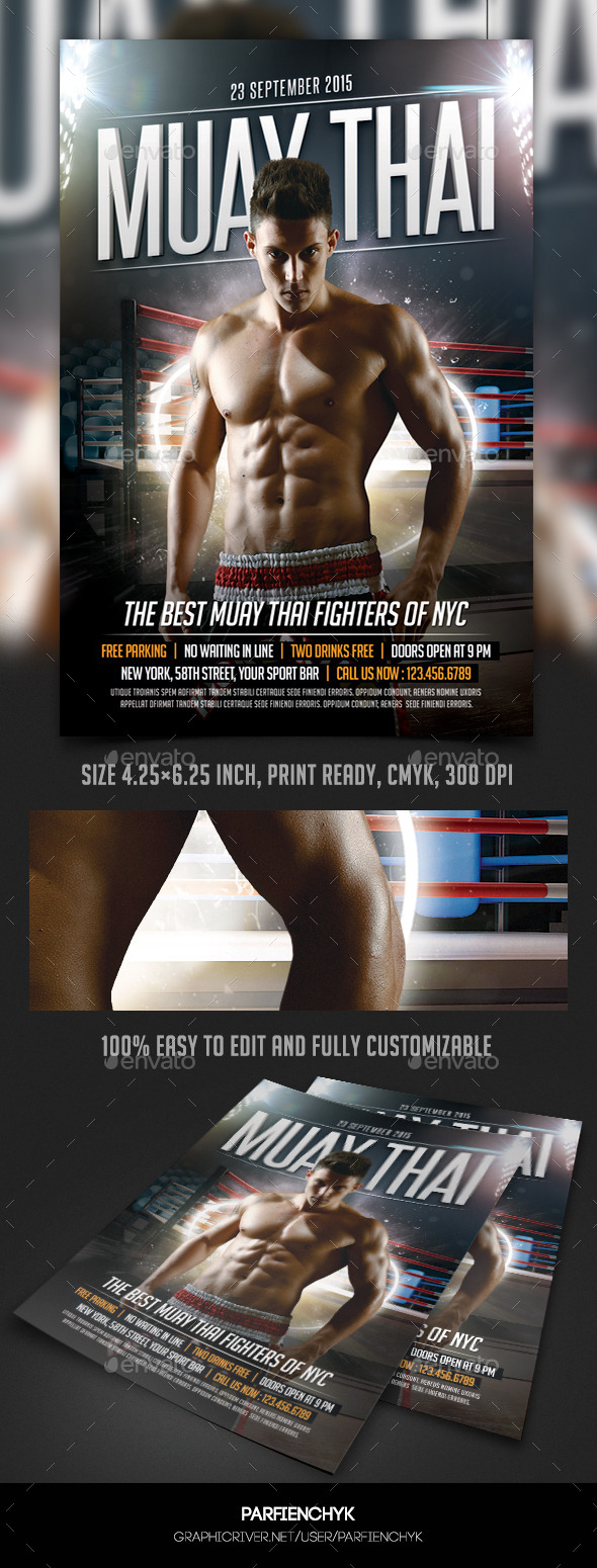 GraphicRiver Muay Thai Fight Flyer Template 10068077