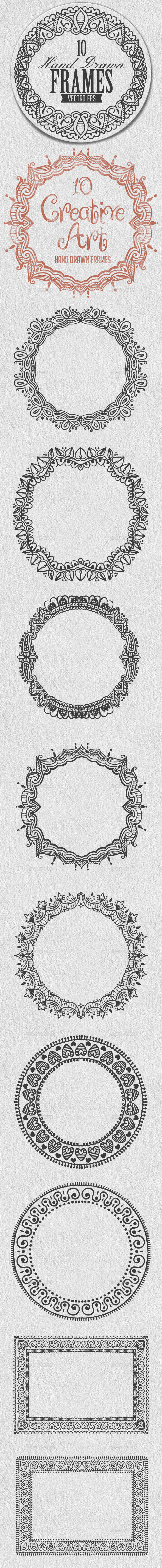 GraphicRiver Hand Drawn Frames 10068094